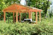 Le bois permet une intégration parfaite à la nature