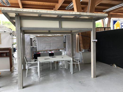 Gazébo contemporain réalisé pour le salon de l'immobilier de Sainte Adèle