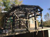 La structure de cette véranda à été dessiné par Atelier Lenoir et approuvé par un ingénieur en structures